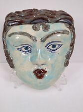 Medea the sorceress - Grecian style mask - handmade porcelain wall hanging