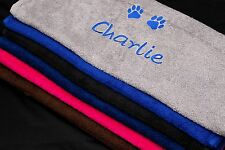 PERSONALISED DOG CAT PET TOWELS - EMBROIDERED WITH ANY NAME - Great Gift Idea