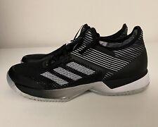 Adidas Adizero Ubersonic 3 Clay Tennis Shoe Women's Sz 8 Black White FV4053 NEW!