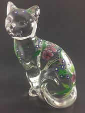 """Collectible Lenox Fine Crystal Cat Made In Germany Decorated In Romania 6"""""""