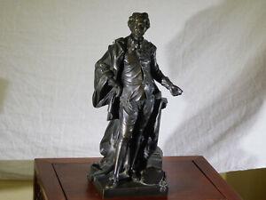 RARE-Jean Michel Rysbrack c1743 Bronze Sculpture Figure