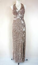 PHASE EIGHT BNWT RAPHAEL Bronze Sequin Bodycon Cocktail Evening Dress Size 16