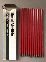 Vintage BEROL VERITHIN Eagle Colored Pencil (Scarlet Red 744, 2 Packs/24-Pencil)