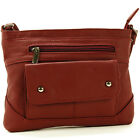 Women's Genuine Leather Handbag Cross Body Bag Shoulder Bag Organizer Mini Purse