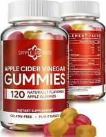 Apple Cider Vinegar Gummies 120 ct Organic Raw Unfiltered Detox Cleanse Non GMO