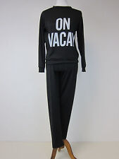 Boohoo Sophie On Vacay Knit Lounge Set - Small - Black  - NWT