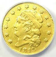 1813 Capped Bust Gold Half Eagle $5 - ANACS VF30 Details - Rare Gold Coin!