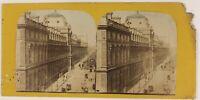 Rue Da Rivoli Parigi Francia Foto ThL4n33 Stereo Vintage Albumina c1870