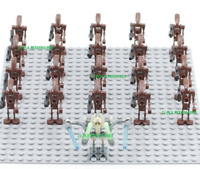 21Pcs Minifigures -Star Wars Character Battle Droid Trooper Robot Brown Lego MOC