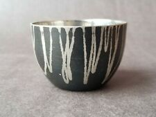 Michael Aram Signed Decorative Etched Metal Black Miniature Bowl / Cup
