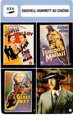 FICHE CINEMA :  DASHIELL HAMMETT AU CINEMA (Bio/Filmo) Faucon Maltais...