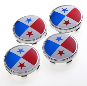 4PC 60mm Panama Panamanian Flag Wheel Center Hub Caps Fit Suzuki Nissan