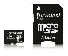 16GB Transcend Ultimate microSDHC CL10 UHS-1 tarjeta de de alta velocidad