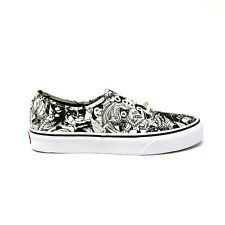 Vans Authentic Marvel Multi Women's 8 Black White Skate Shoes New Sneakers