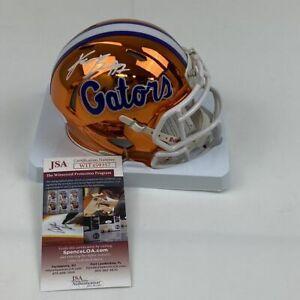 Autographed/Signed KADARIUS TONEY Florida Chrome College Mini Helmet JSA COA