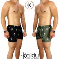 Costume Da Bagno Uomo Mare Bermuda Boxer Piscina Pantaloncino Corto Teschio