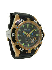 Breil Milano Manta BW0410 Men's Round Black Chronograph Date Resin Band Watch