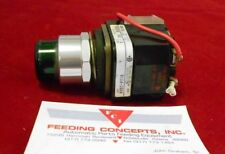 Allen Bradley, Illuminated Switch, 800T-PT16, w/Contact Block,  Green