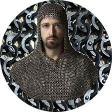 Mild Steel Flat Riveted Flat Washer Chain mail 9 mm Medieval Coif /Hood Black