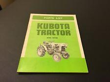 Vintage Kubota Tractor Illustrated Parts Manual B5100