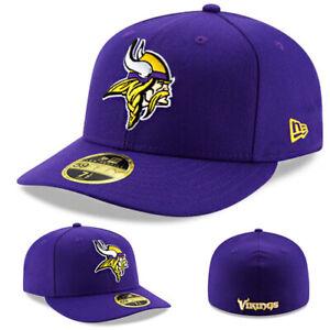 New Era Minnesota Vikings Fitted Hat Official NFL Team True Purple Low Profile