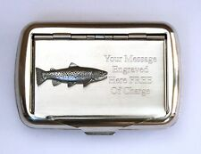 Barbel Fish Tobacco Hand Rolling Ups Cigarette Tin FREE ENGRAVING Fishing Gift
