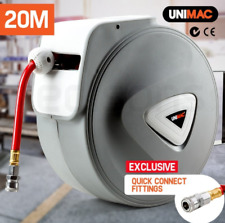 20m PVC Air Hose & Retractable Reel 180° Wall Mounted 116 PSI Pressure Air Hoses