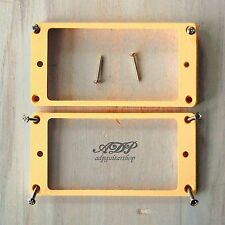 2 CONTOURS HUMBUCKER Gibson LP CREAM Pickup Mounting Ring curved Les Paul 8 Vis