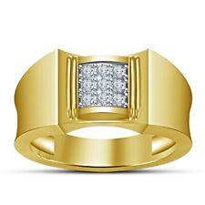 Band Ring 10K Yellow Gold Over New listing 0.40Ct Diamond Mens Pinky Wedding Fashion