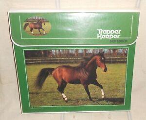 Vtg MEAD Trapper Keeper 29096 Horse : Jr High Old School Homeroom 1970's 1980's