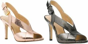 Michael Kors BECKY Slingback Leather Heel Sandals US 6.5,7.5,8.0,9.0,9.5,10.0
