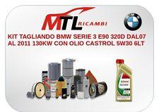 KIT TAGLIANDO BMW SERIE 3 E90 320D DAL07 AL 2011 130KW CON OLIO CASTROL 5W30 6LT