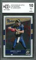 2016 donruss optic the rookies #1 JARED GOFF los angeles rams rookie BGS BCCG 10