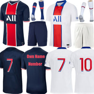 20-21 Football Kits Soccer Short Sleeve Jersey Kids Sports Suit Youth Outfits