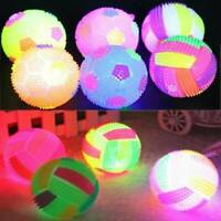 LED Volleyball Flashing LightUp Colors Changing Bouncing Hedgehog Ball Kids Toy