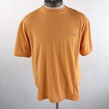 Columbia Men's Size Medium PFG Short Sleeve Shirt Orange Crewneck Active Casual