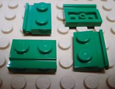 LEGO Set of 4 NEW 1x2 Modified Plates w/Door Rail (Technic motor holders) GREEN