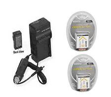 Two NP-BN1 Batteries + Charger for Sony DSC-TX100V DSC-TX100B DSC-T99V DSC-T99B