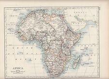 1897 VICTORIAN MAP ~ AFRICA ~ MADAGASCAR SAHARA SUDAN EGYPT CONGO