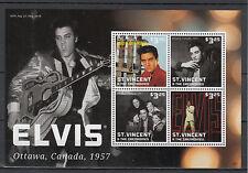 St Vincent & The Grenadines 2013 MNH Elvis Presley 4v M/S Ottawa Canada 1957