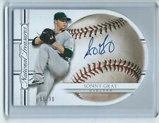 2016 National Treasures BB #077 Sonny Gray A's DIE-CUT BASEBALL AUTOGRAPH /99 !!