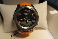 Men's Tissot T-Touch Watch Sapphire Crystal -100M Water Resistant - Smart Watch