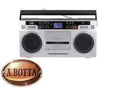 Radio Registratore a CASSETTE TREVI RR 504 BT Silver Bluetooth Stereo USB MP3