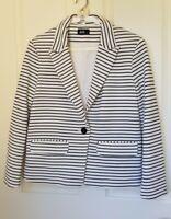 Dotti Size 14 Stripped Blazer Jacket