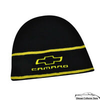 Hat - Chevrolet Camaro Embroidered Knit Beanie Cuffless Cap Black & Yellow