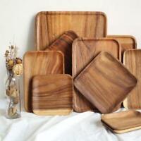 Wooden Tray Dinner Plate Food Dessert Tea Holder Plate Square Rectangle Shape 6L