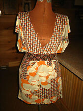 WOMEN'S BEAUTIFUL TOP BLOUSE W/ TIE BACK & CROCHET FRONT~ CHARLOTTE RUSSE~ MED