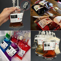 1 REUSABLE BLOOD BAGS HALLOWEEN PARTY HAUNTED HOUSE DRINK CONTAINER DECORATION