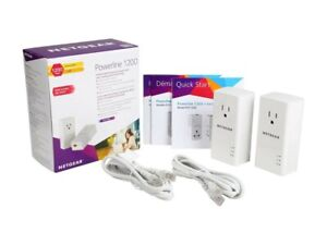 Netgear PLP1200-100PAS Powerline 1200 and Extra Outlet