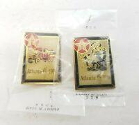 Vintage 1996 Atlanta Olympic Lot of 2 Texaco Collector's Pins NEW